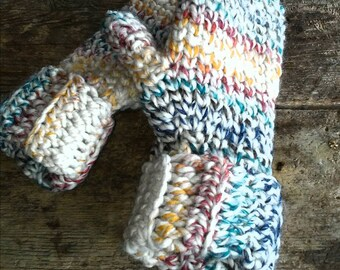 Hand-crafted Crocheted Mittens