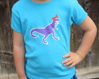 """Child's """"Girl Dinosaur"""" T-Shirt"""