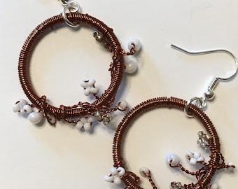 Flowered Vine Earrings