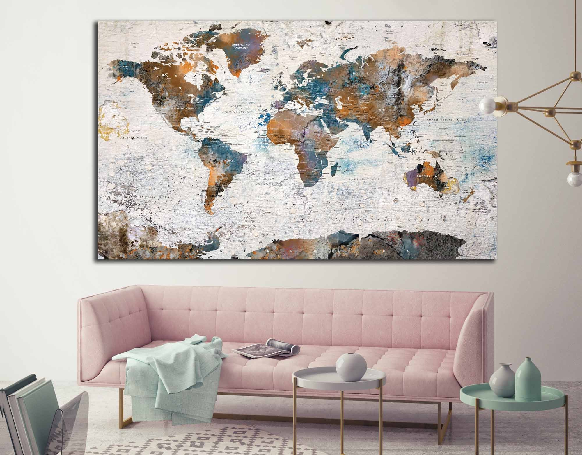 World map canvas single panelworld map wall artworld mappush pin world map canvas single panelworld map wall artworld mappush pin map canvasworld map printworld map largeworld map abstract art gumiabroncs Image collections