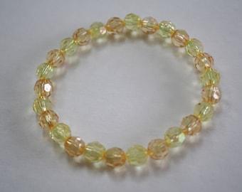 Orange and Yellow Aurora Borealis Bracelet, Orange and Yellow Bracelet, Aurora Borealis Bracelet, Crystal bracelet, Crystal Jewelry