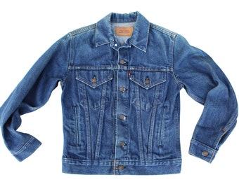 Vintage Levi's Denim Jean Trucker Jacket Size Small