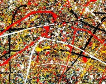 Homage of Pollock-Number 12 t95042 75 x 180 cm abstract oil painting hand painted