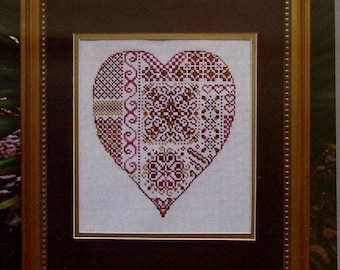 Cross Stitch Pattern | Turquoise Graphics & Designs DEEPEST LOVE Heart Valentine's Day - Counted Cross Stitch