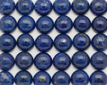 Blue Lapis Cabochons 10mm Round | ONE 10mm Round Lapis Cabochon | High Grade Royal Blue Lapis Lazuli Cabochons