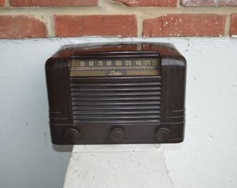 Delco Bakelite Dark Brown Tube Radio, 1948