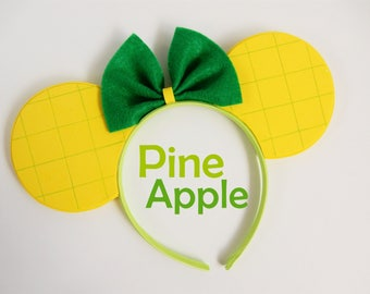 Pineapple Mouse Ears - 2017 Summer Collection Dole Whip Fruit Minnie Ears MADE TO ORDER