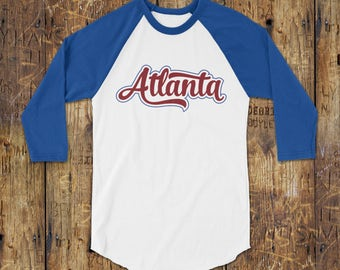 Atlanta Shirt - Atlanta Baseball Tee for Men & Women - Atlanta Raglan shirt - Retro Tshirts - Atlanta Graphic Tee - atlanta gifts