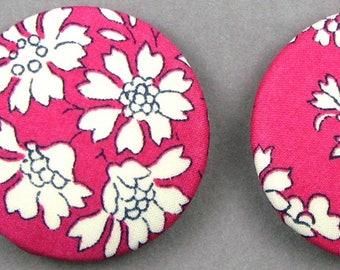 Diameter 32 mm - Liberty Capel P - fabric covered buttons - know