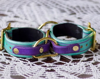 Stealth Cuffs - Turquois and Purple