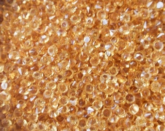 Yellow Gold synthetic rhinestone 3mm (non drilled)