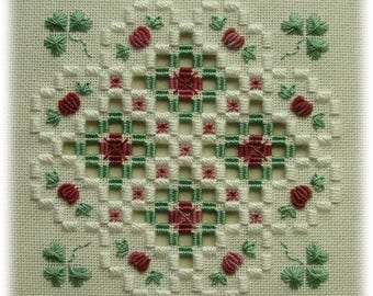 Hardanger embroidery - Luck of the Irish