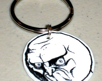 Nope Face - Internet Meme Keychain, Cell Phone Charm, Necklace, Earrings, Stickers, Tattoos, Embroidered Patch, Magnets