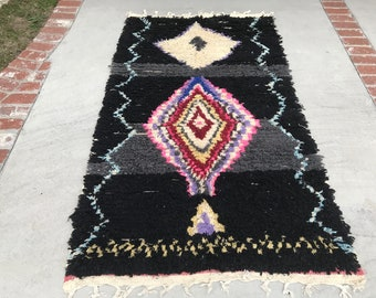 "FREE SHIPPING!!! ""TESSA"" Boho Chic Moroccan Azilal Rug in Multi Colors (Los Angeles)"