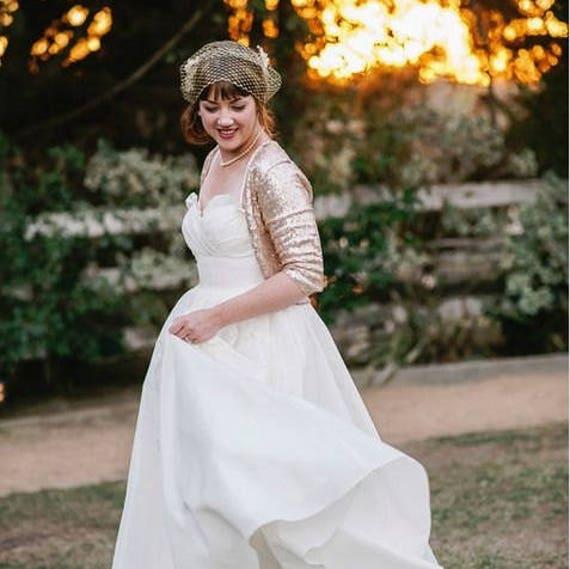 Gold Sequin Bolero // Bridal Bolero // Plus Size Bridal Bolero