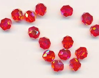 Twelve dazzling limited edition Swarovski crystals: art 5000 - 8 mm - hyacinth AB 2X
