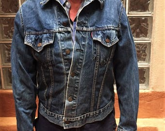 "Cool 60's/70's Vintage Levi's Denim Jacket - Perfectly Worn In Type 3/Trucker Style - ""Big E"" Label"