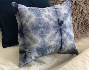 Shibori Canvas Throw Pillow