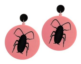 SALE John Waters THE BUG Hairspray roach acrylic earrings