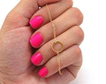 Karma Bracelet, Silver Karma Bracelet, Gold Karma Bracelet, Circle Infinity, Good Karma, Round Bracelet, Circle Bracelet, Dainty Chain