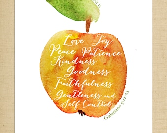 The Fruit of the Spirit Printable - 8x10 Art Print - Instant Download
