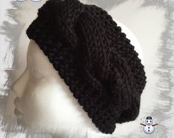 Ears headband/Headband/warmer/headband for women or teens wool winter thick warm, and soft black color