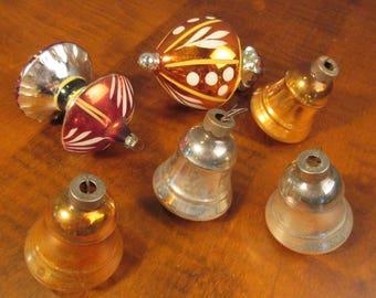 Set of 6 mid century Christmas ornaments
