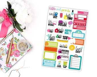 LRP Sampler Planner Stickers for the Erin Condren Life Planner, Sampler Sticker, Label Planner Sticker - [P0075]
