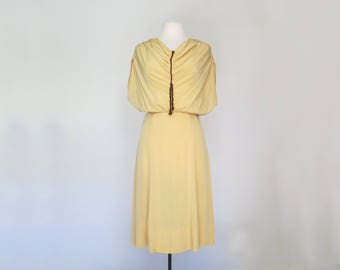 OH HONEY // vintage golden silk 30s dress