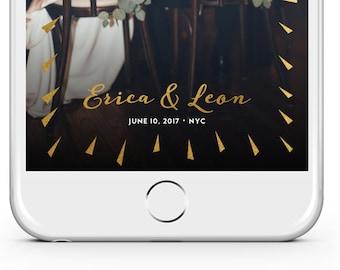 Snapchat Filter // Gold Burst