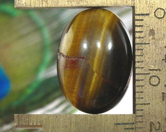 Tigers Eye Natural Chatoyant Gemstone Oval Shaped Cabochon - 18X13mm
