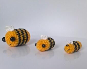 Miniature Crochet Bee