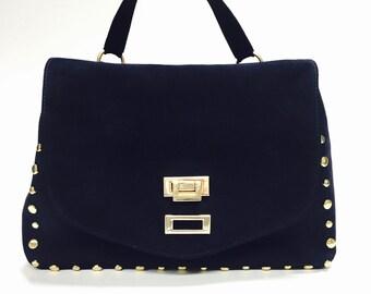 Vianca, Satchel Bag, Vintage Style, Handmade, Italian Leather