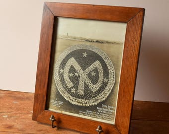 1919 Mole & Thomas Living Insignia Photograph Framed 27th Division New York's Own WWI Military Memorabilia Collectible Father's Day Gift