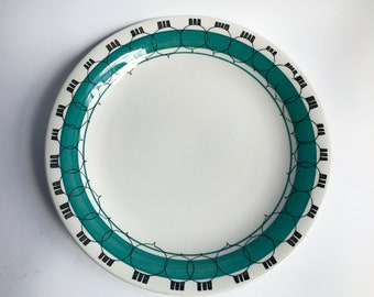 Rorstrand PICKNICK plate green border, lunch, dinner / Marianne Westman extremely RARE Swedish Scandinavian collectible  Mid Century