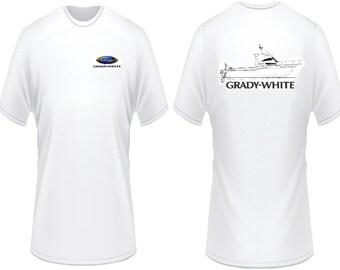 Grady White Boats Line Drawing T-Shirt