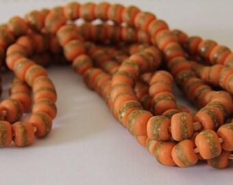 Orange Kente Beads - AG 118