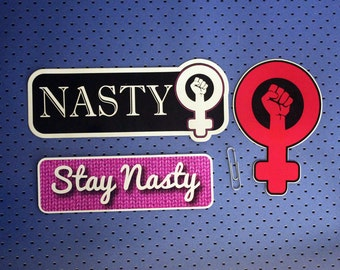 Nasty Feminist Sticker Set