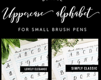 BUNDLE 3: Two Uppercase Alphabets for Small Brush Pens