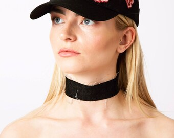 Embroidered Rose Hat