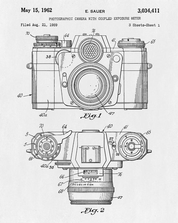 Camera patent print camera vintage design poster art blueprint camera patent print camera vintage design poster art blueprint photography decor malvernweather Gallery