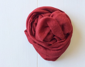 Newborn Knit Stretch Wrap, Photography Prop Deep Red, Holiday