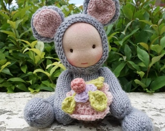 Waldorf doll Mouse present for girls, cloth doll, rag doll, gift for girl