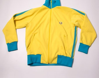 Vintage Fred Perry Yellow Zip Up tracksuit Jacket