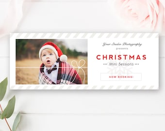 Christmas Facebook Timeline - Holiday Timeline - Holiday Photographer Templates - Photoshop Template - INSTANT DOWNLOAD