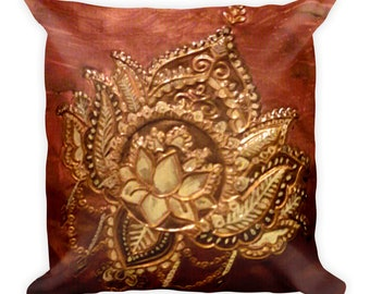 Lotus Pillow,Lotus Accent Pillow, Buddhist Pillow,Lotus Flower, Lotus Throw Pillow,Lotus Bedroom Pillow,Spiritual Décor,Artist Pillow