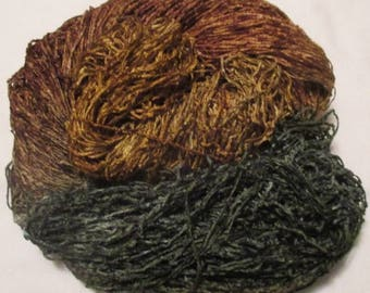 Handpainted Soft Rayon Chenille Yarn  WOODLAND FOREST - 500 yards
