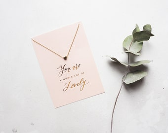 You are a whole lot of lovely necklace and card
