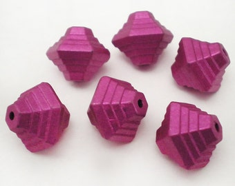 FINAL SALE - 12mm Magenta Bicone acrylic beads 10pcs