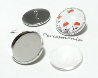 4 pieces: 2 brackets buttons sewing 2cab and 12mm PP